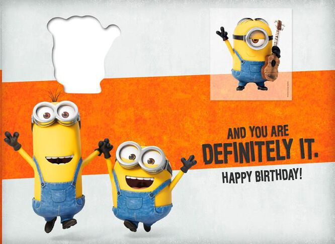 Minions Cool Birthday Card With Temporary Tattoo Greeting Cards – Birthday Card Cool
