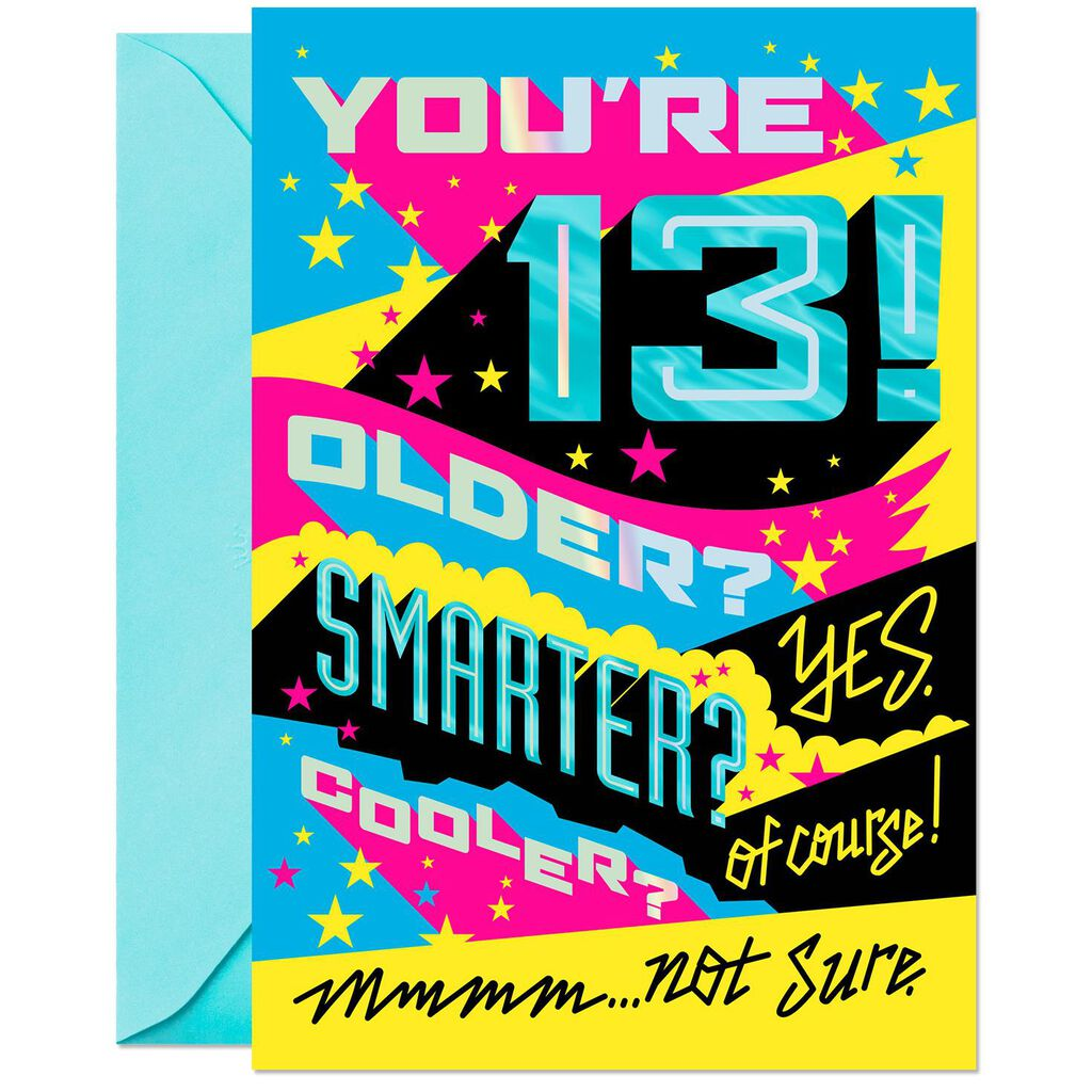 Couldnt Be Cooler Funny 13th Birthday Card