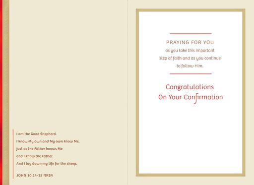 Praying for You Religious Confirmation Card for Godson,