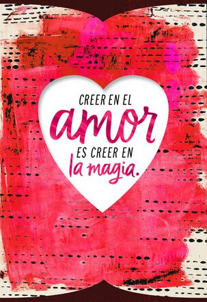 Love Is Magic Spanish-Language Love Card