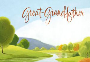 Tranquil River Great-Grandfather Birthday Card