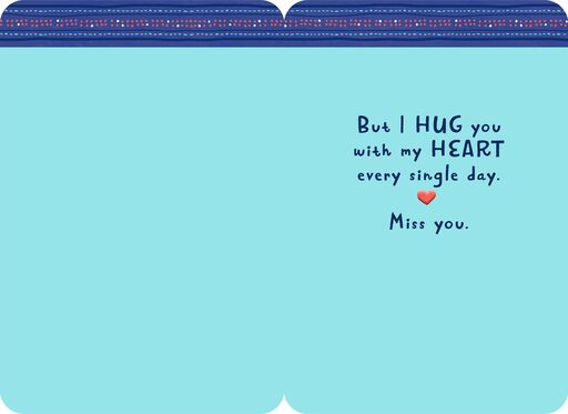 Hug You With My Heart Miss You Card,
