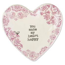 "Natural Life Heart Trinket Dish ""You Make My Heart Happy"", , large"