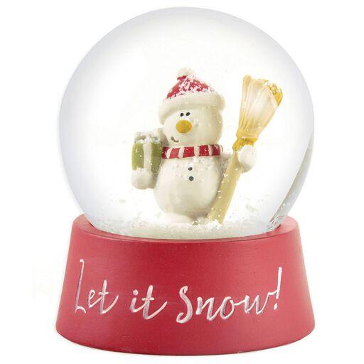 Let It Snow Snowman Snow Globe 3