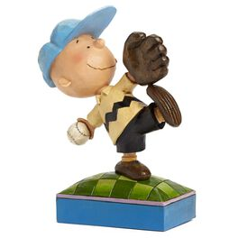 Jim Shore Perfect Pitch—Baseball Charlie Brown Figurine, , large