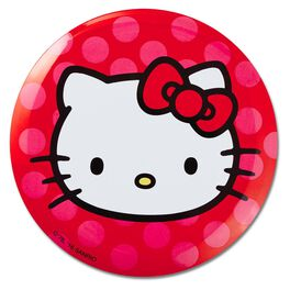 Hello Kitty® Polka-Dotted Large Button, , large