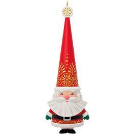 Jolly Santa Ornament, , large