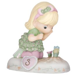 Precious Moments® Growing in Grace Blonde Hair Girl Figurine, Age 3, , large