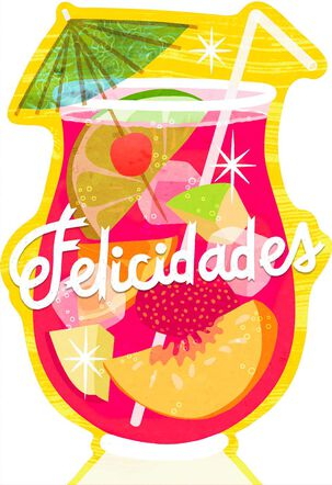 Cocktail Drink Spanish-Language Birthday Sound Card
