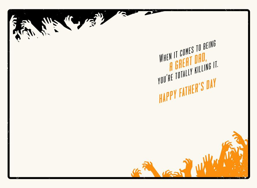 The Walking Dead Daryl Dixon Tough Guy Kind Heart Fathers Day Card