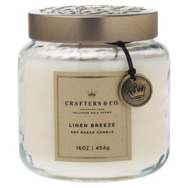 Crafters & Co. Linen Breeze Candle, 16-oz, , large