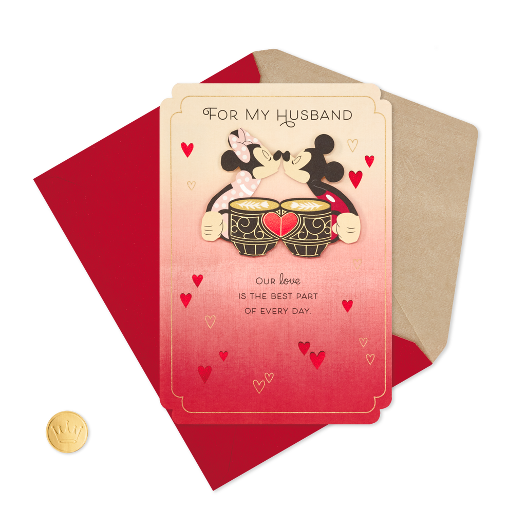 Mickey And Minnie Love Valentines Day Card For Husband