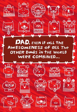 Awesomest Dad Valentine's Day Card