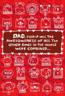 Awesomest Dad Valentine's Day Card,