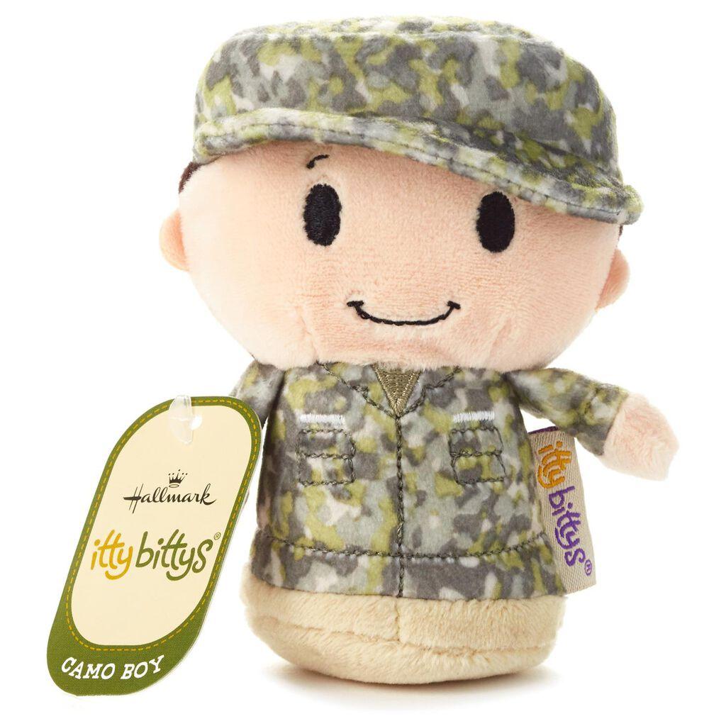 Itty Bittys Green Camo Boy Stuffed Animal Itty Bittys Hallmark