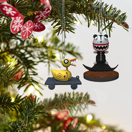 ... Tim Burton's The Nightmare Before Christmas Scary Teddy and Undead Duck Ornaments, ...