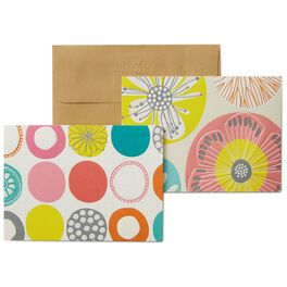 Floral Dottie Blank Note Cards, Pack of 8, , large