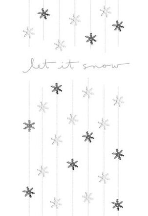 Let It Snow-flakes Christmas Card