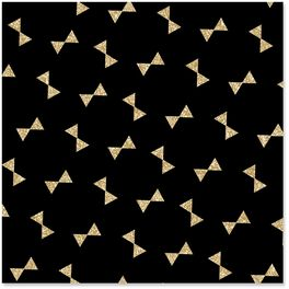 Gold Bow Ties on Black Wrapping Paper, 1 Sheet, , large