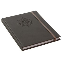 Compass Faux Leather Journal, , large