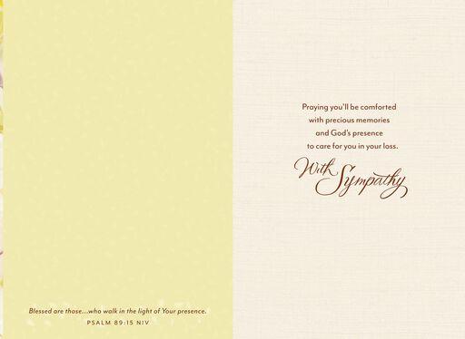 White Floral Religious Sympathy Card,