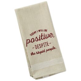 Today I Will Be Positive Bar Towel, , large