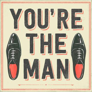 You're the Man Musical Birthday Card,