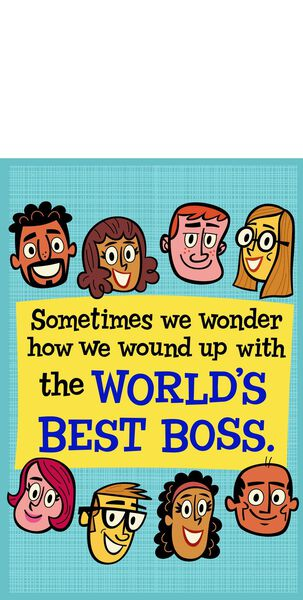 World's Best Boss and Employees Funny Boss's Day Card From Us