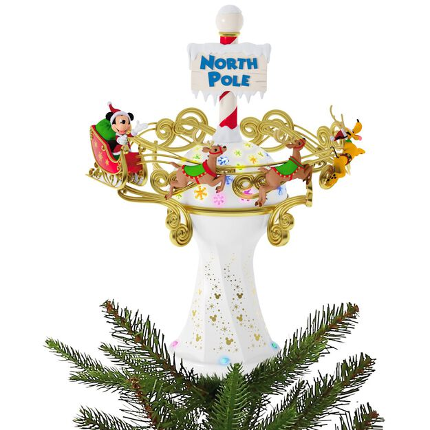 Disney Mickey Mouse Oh What Fun! Tree Topper With Light And Music  - Mickey Mouse Christmas Tree Topper