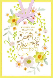 Beautiful Blessings Religious Easter Card,