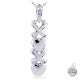 Diamond Accent XOXO Necklace in Sterling Silver, , large