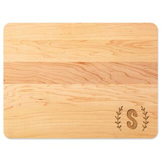 Single Monogram Home As Brand Personalized Wood Cutting Board,