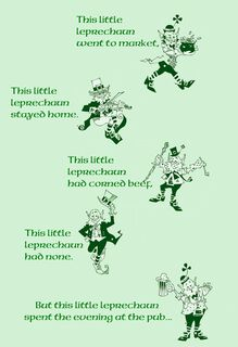 Wee Leprechaun Funny St. Patrick's Day Card,