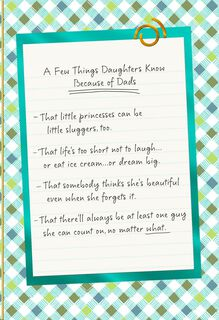 List of Things Dads Teach Daughters Father's Day Card,
