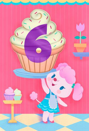 Very Own Brand of Sweetness 6th Birthday Card
