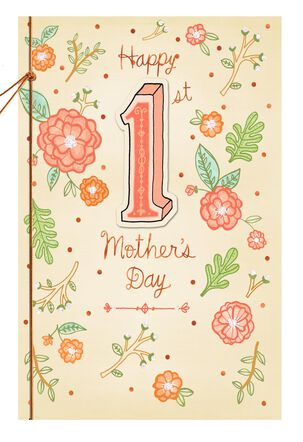 Charming Flowers 1st Mother's Day Card