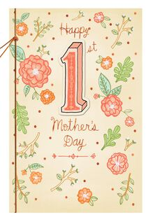 Charming Flowers 1st Mother's Day Card,