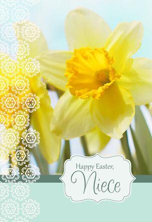 Daffodil Niece Easter Card