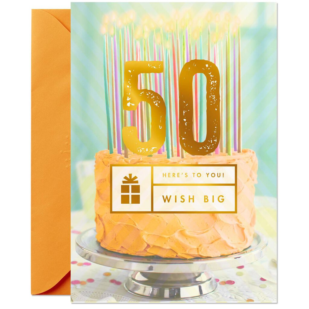 Wish Big 50th Birthday Card