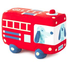 Stuffed Firetruck Toy with Lights and Sound, , large