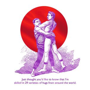 Hugs from Around the World Birthday Card