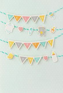 Hello Little One New Baby Card,