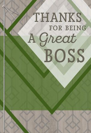 I'm Grateful for You Boss's Day Card