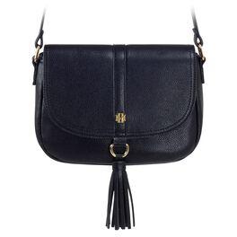 Mark & Hall Black Saddle Crossbody Bag, , large
