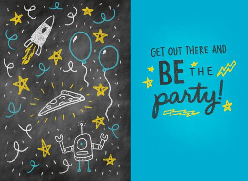 Kid President Be a Party Just Because Kid's Card,