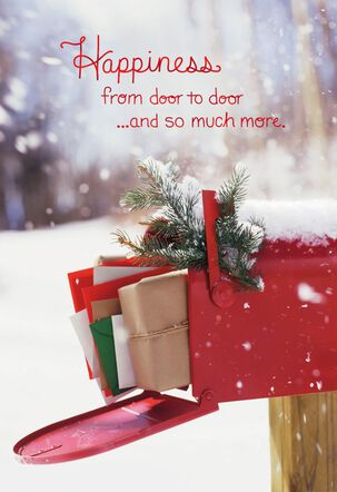 Door to Door Happiness Christmas Card for Mail Carrier
