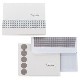 Silver Dots Thank You Notes, Box of 50, , large