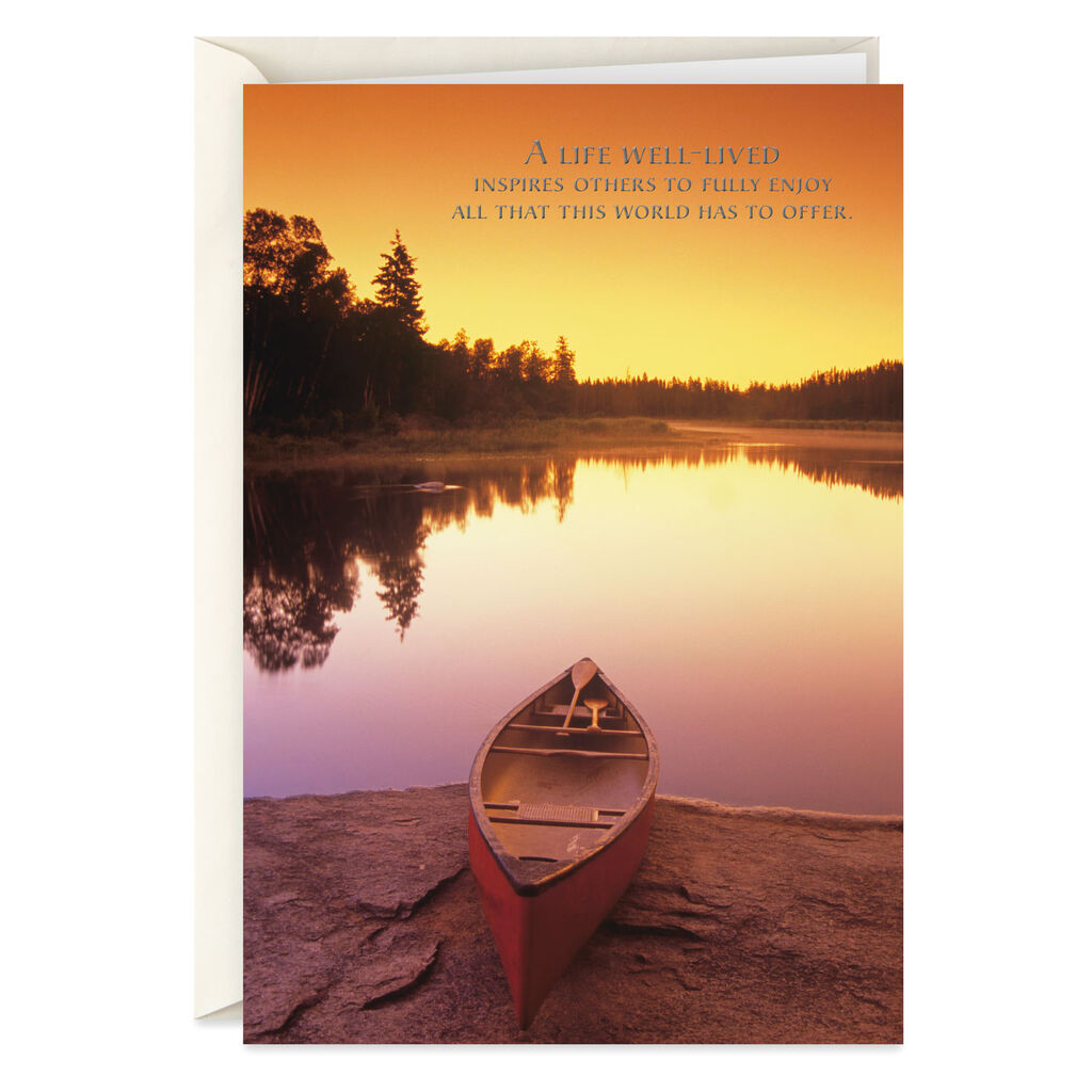 95e511c8c A Life Well Lived Canoe With Paddles Sympathy Card - Greeting Cards -  Hallmark