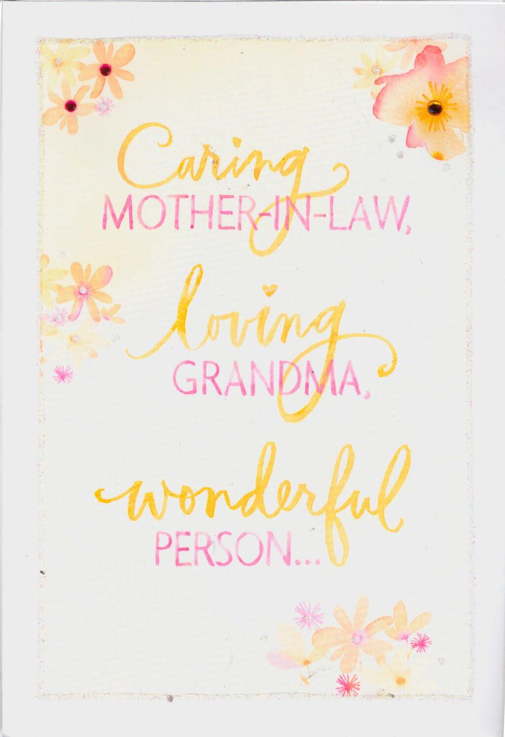 Caring Mother In Law Loving Grandma Mothers Day Card Greeting