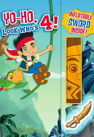 Jake and the Never Land Pirates 4th Birthday Card With Inflatable Sword